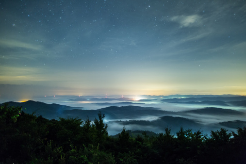 Scenics - Nature「Sea of clouds under the stars」:スマホ壁紙(2)