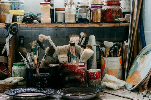 Restoring「Detail of a workshop of carpentry」:スマホ壁紙(0)