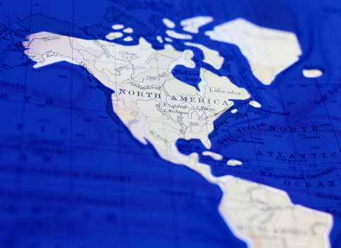 Latitude「Detail of a World Map Showing the Americas」:スマホ壁紙(15)