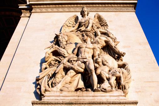 Arc de Triomphe - Paris「Detail of artwork on the Arc de Triomphe; Paris, France.」:スマホ壁紙(15)