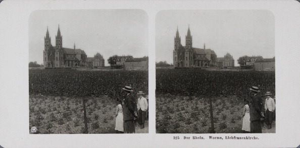 Architectural Feature「The Rhine. Worms Church Of Our Lady. About 1900. Stereophotograph.」:写真・画像(11)[壁紙.com]