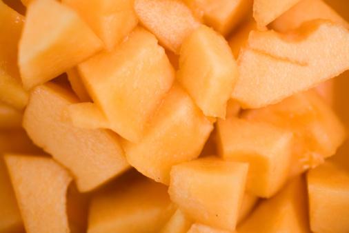 メロン「Chunks of cantaloupe melon」:スマホ壁紙(10)