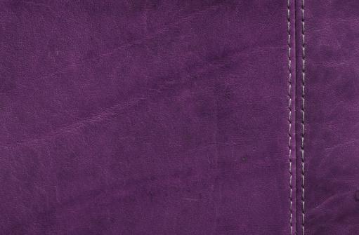 Seam「Purple  Leather Texture with Stitch Detail」:スマホ壁紙(7)