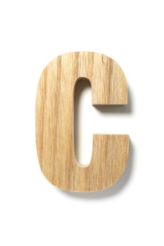 Alphabet「Wood Letter C」:スマホ壁紙(15)