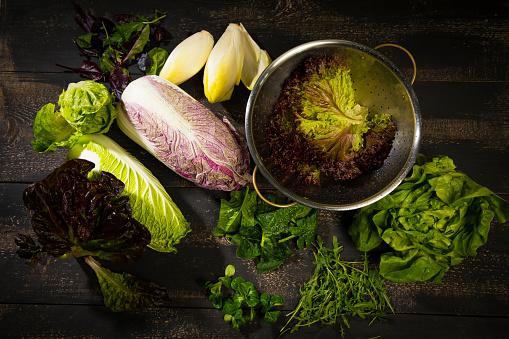 アブラナ「Various sorts of salads」:スマホ壁紙(17)