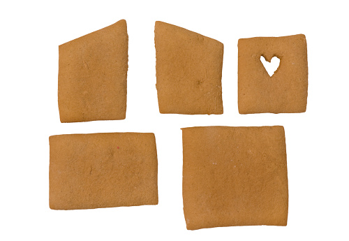 Gingerbread Cookie「Parts for a gingerbread house」:スマホ壁紙(11)
