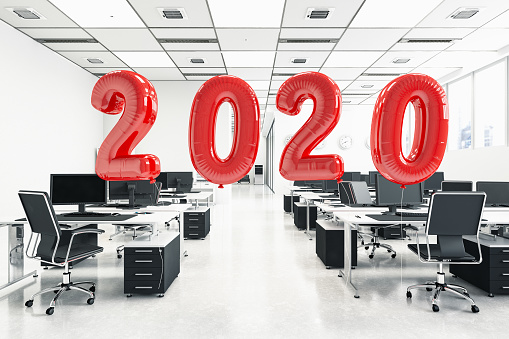 New Year「2020 Balloons in Empty Office. New Year Concept」:スマホ壁紙(0)