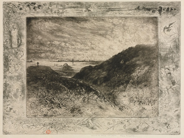 Etching「The Cliff: Bay Of Saint-Malo」:写真・画像(19)[壁紙.com]