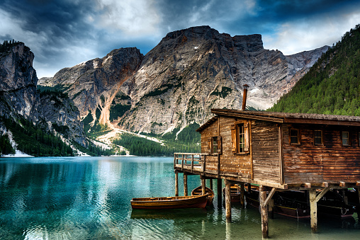 European Alps「Lake Braies (Pragsersee) in South Tyrol in Summer」:スマホ壁紙(3)