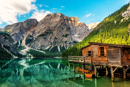 Alto Adige - Italy「Lake Braies in South Tyrol in Summer」:スマホ壁紙(18)