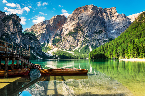 UNESCO World Heritage Site「Lake Braies (Pragsersee) in South Tyrol in Summer」:スマホ壁紙(14)