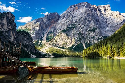 Alto Adige - Italy「Lake Braies / Pragsersee in South Tirol」:スマホ壁紙(16)