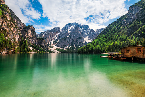 Alto Adige - Italy「Lake Braies / Pragsersee in South Tirol」:スマホ壁紙(9)