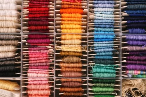 Embroidery「rainbow of embroidery thread」:スマホ壁紙(3)