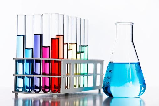虹「虹色付きの液体、バックライトで実験用ガラス器具」:スマホ壁紙(7)