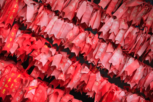 Indigenous Culture「red ribbons with wishes. Buddhist Temple, Kunming, Younnan province, China」:スマホ壁紙(16)