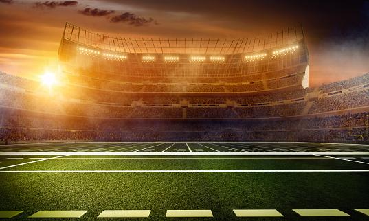Blurred Motion「Dramatic american football stadium」:スマホ壁紙(17)