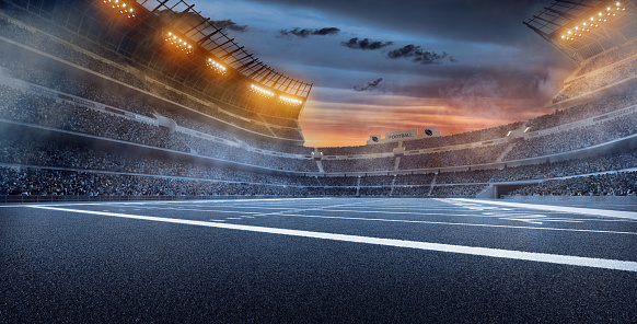 Focus On Foreground「Dramatic american football stadium」:スマホ壁紙(14)