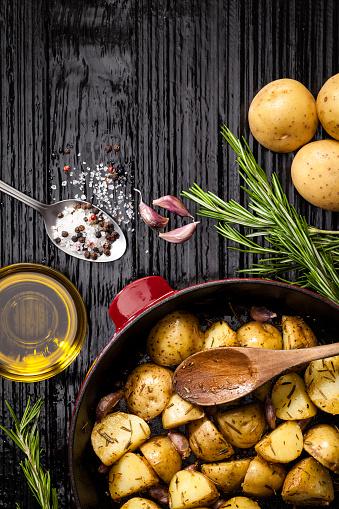 Vegetarian Food「Roasted potatoes」:スマホ壁紙(19)