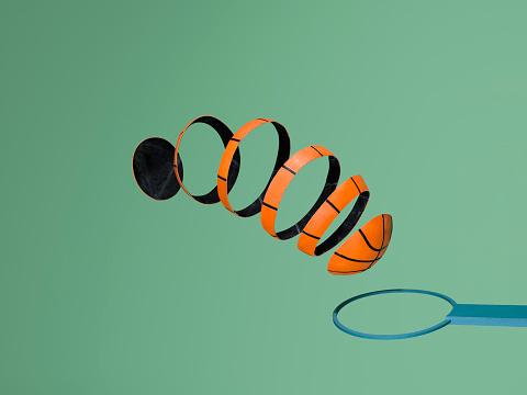 Success「Sliced basketball makes its journey to score hoop」:スマホ壁紙(8)