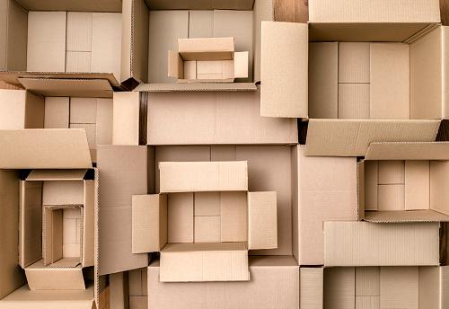 豊富「Empty cardboard boxes (top view)」:スマホ壁紙(12)
