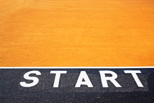 Beginnings「Starting line painted on asphalt」:スマホ壁紙(17)