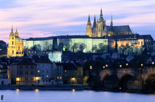 St Vitus's Cathedral「Prague at Dusk」:スマホ壁紙(11)