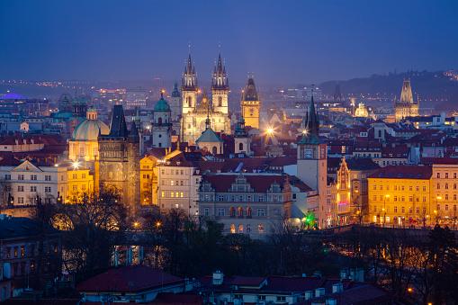 St Vitus's Cathedral「Prague at dusk」:スマホ壁紙(14)