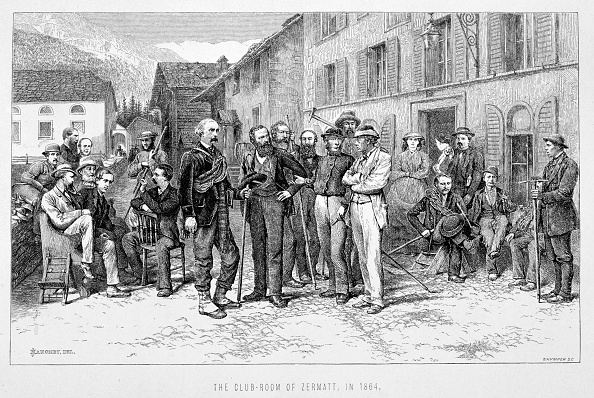 Pennine Alps「The Club Room Of Zermatt In 1864' 19th Century」:写真・画像(3)[壁紙.com]