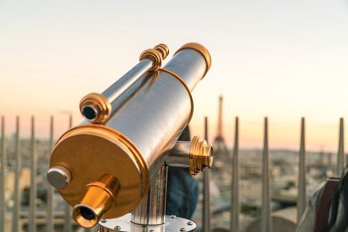 Arc de Triomphe - Paris「Viewing telescope on Triumphal Arch, Paris, France」:スマホ壁紙(5)