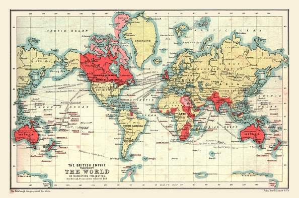British Empire「World Map Showing The British Empire」:写真・画像(0)[壁紙.com]