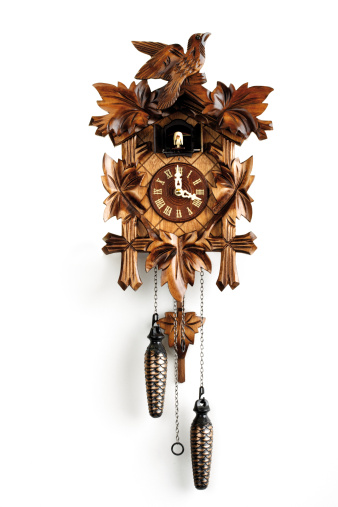 Roman Numeral「Cuckoo clock, close-up」:スマホ壁紙(3)