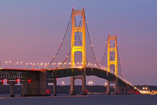 Great Lakes「Mackinac Bridge at Twilight」:スマホ壁紙(4)