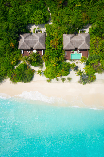 Indian Ocean Islands「privacy on tropical paradise, aerial view」:スマホ壁紙(11)