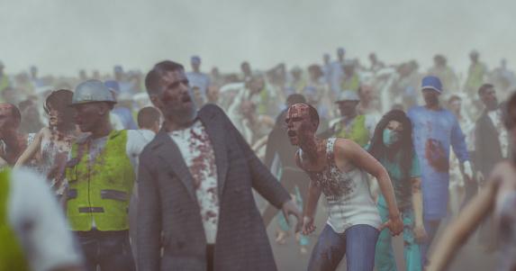 雪「Hordes of angry walking dead zombies」:スマホ壁紙(0)