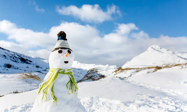 Spain, Asturias, portrait of a snowman:スマホ壁紙(壁紙.com)