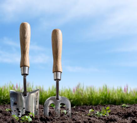 掘る「ガーデニングで春」:スマホ壁紙(8)