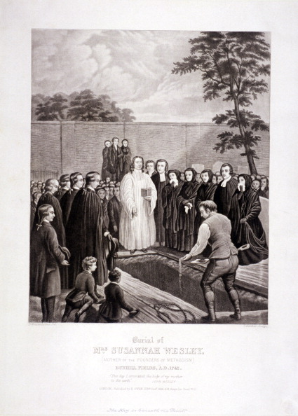 Methodist「The burial of John Wesley's mother in Bunhill Fields, Finsbury, London, 1866. Artist: Stephen Gimber」:写真・画像(8)[壁紙.com]