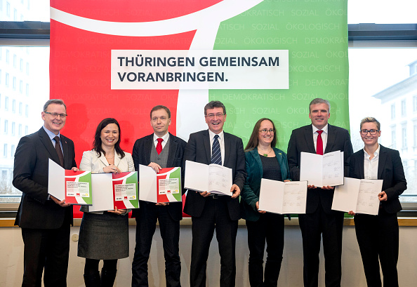 Jens Schlueter「Thuringia Confirms New Government」:写真・画像(2)[壁紙.com]