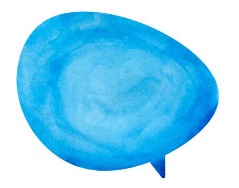 Drawing - Art Product「Blue Globe Speech Bubble」:スマホ壁紙(12)