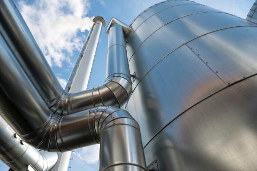 Biomass - Renewable Energy Source「Buffer vessel of a biomass plant, Energiewende, Germany」:スマホ壁紙(17)