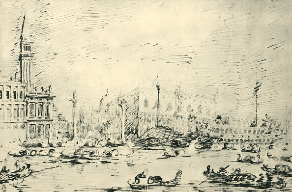 Grand Canal - Venice「Venice: The Bacino Di San Marco On Ascension Day 1729」:写真・画像(3)[壁紙.com]