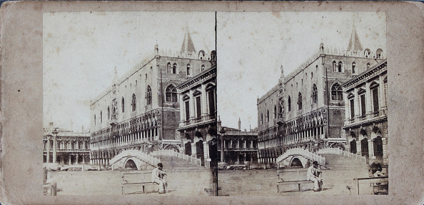 1880-1889「Venice. The Doge'S Palace From The Sea. About 1880. Stereophotograph.」:写真・画像(16)[壁紙.com]