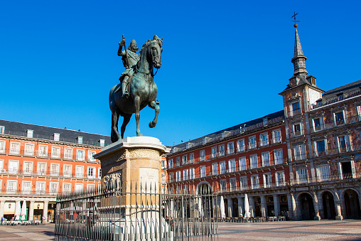 Equestrian Event「Spain, Madrid, Plaza Mayor, Statue King Philips III」:スマホ壁紙(12)