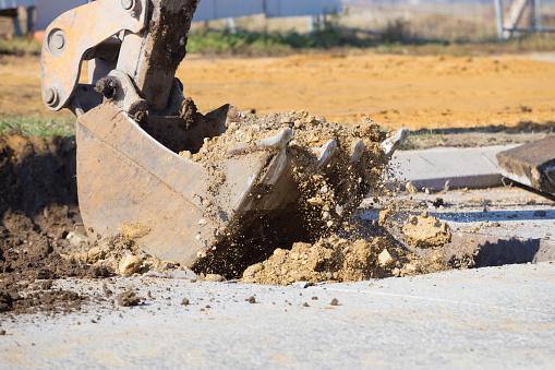 Earth Mover「Earth mover bucket digging dirt」:スマホ壁紙(7)
