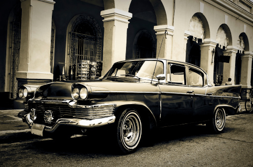 Hot Rod Car「Classic car, Cienfuegos, Cuba」:スマホ壁紙(3)