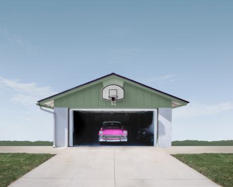 California「Classic Car in Suburban Garage」:スマホ壁紙(9)