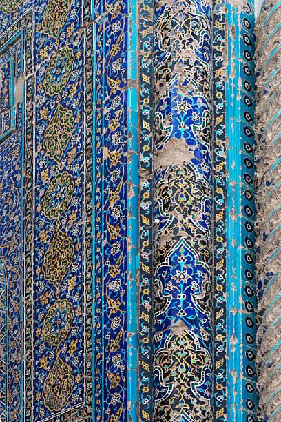 Tile details at Blue Mosque, Masjidi Qebud:スマホ壁紙(壁紙.com)