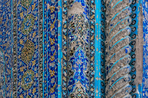Iranian Culture「Tile details at Blue Mosque, Masjidi Qebud,Tabriz」:スマホ壁紙(5)