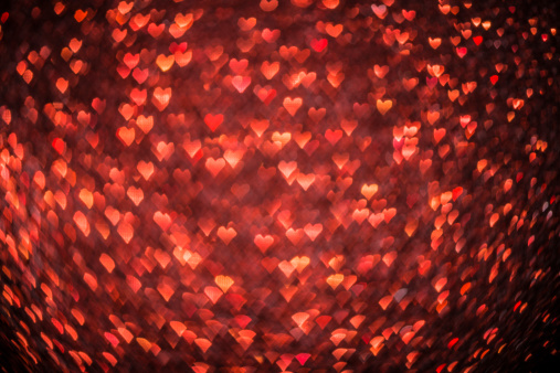 Glitter「Abstract heart shaped bokeh christmas light red defocussed background」:スマホ壁紙(13)